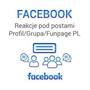 FACEBOOK Reakcje pod postami Profil / Grupa / FanPage PL