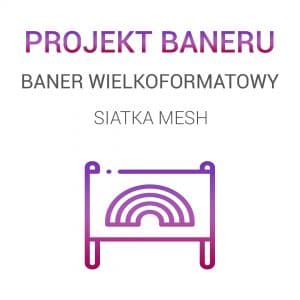 Projekt graficzny baneru - baner siatka MESH