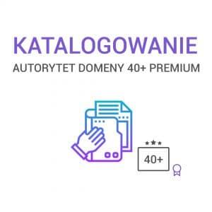 Katalogowanie Autorytet Domeny 40+ Premium