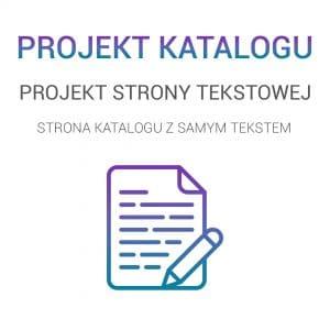 Projekt graficzny katalogu reklamowego - PROJEKT STRONY TEKSTOWEJ