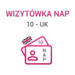 wizytówki NAP 10 UK