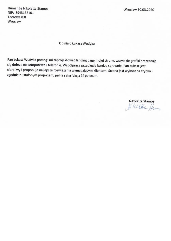 Referencje Łukasz Wudyka