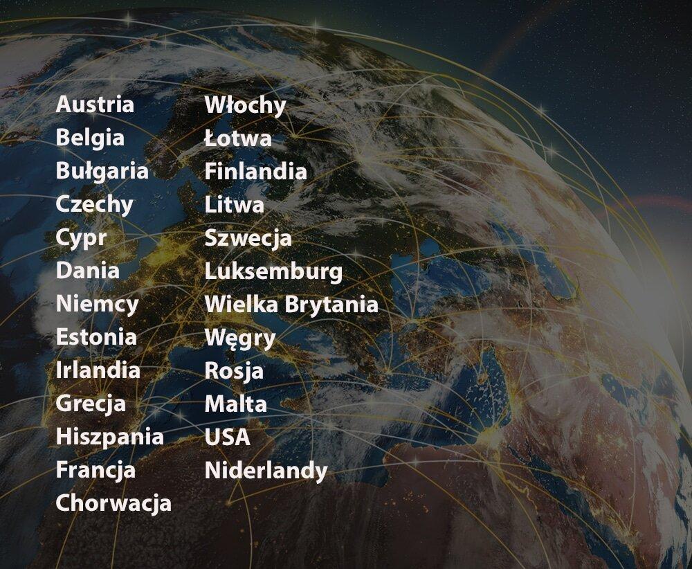 Obsługiwane kraje